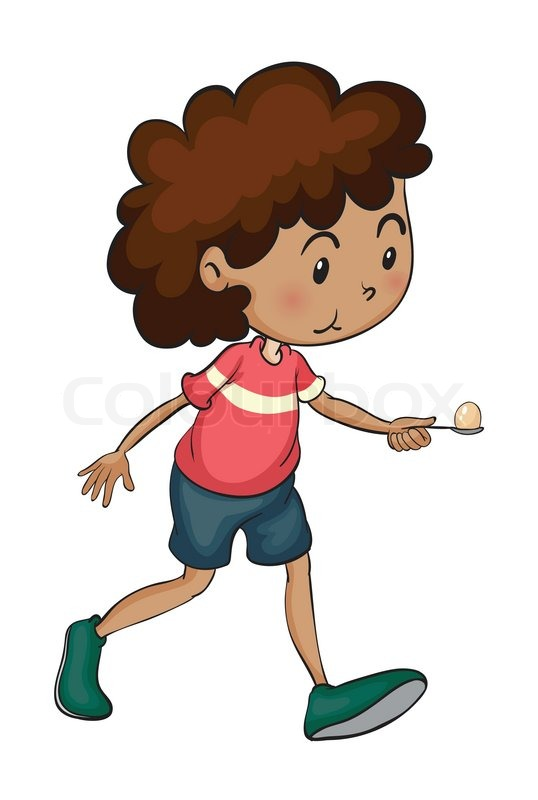 538x800 Boy Walking Stock Vector Colourbox