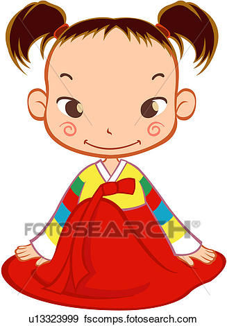327x470 Clip Art Of Pupil, Young Girl, Childhood, 6 13years Old, Winter