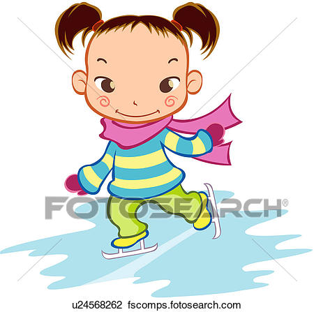 450x447 Clipart Of Pupil, Young Girl, Childhood, 6 13years Old, Winter