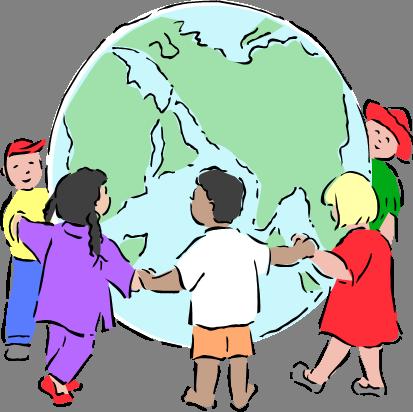 413x412 Children Around The World Clipart Free 8