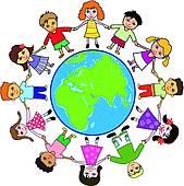 169x170 Clipart Of Kids Around The World K6603030