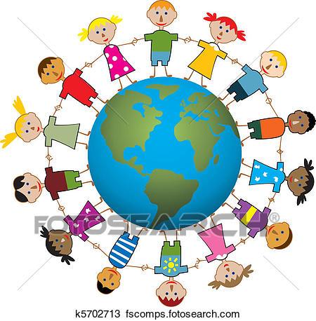 450x458 Clipart Of Children Around The World K5702713