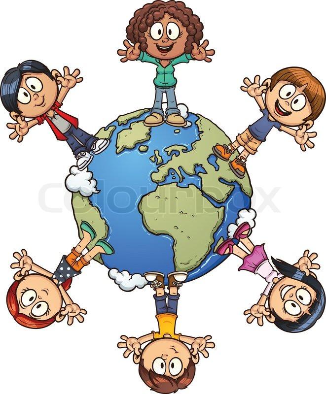 661x800 Cute Cartoon Kids Around The World. Vector Clip Art Illustration