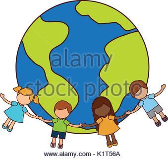 339x320 Happy Children Around The World Illustration Stock Vector Art