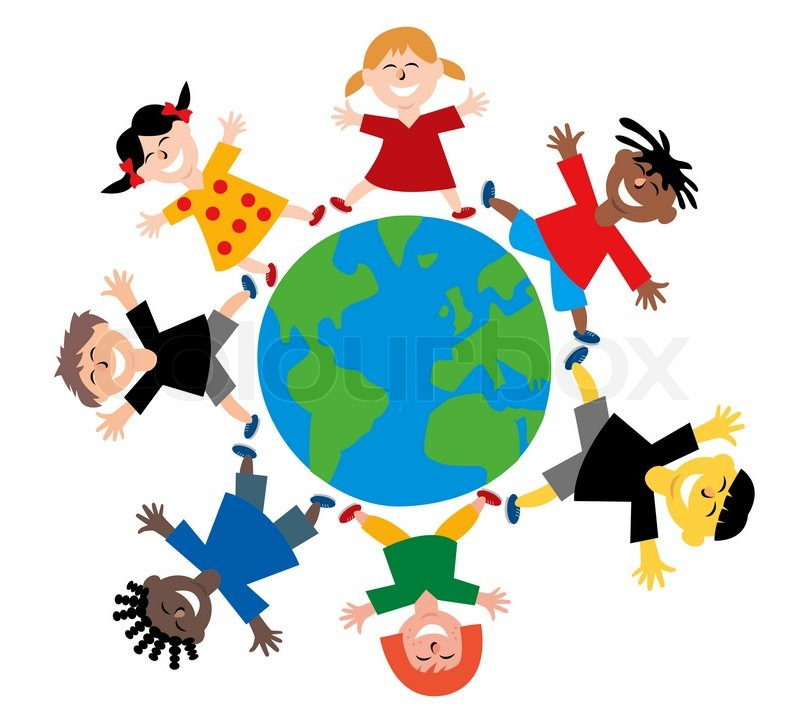800x725 Happy Colorful Different Children From All Over The World Jumping