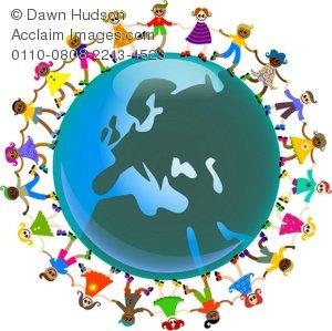 300x299 Illustration Of Diverse European Children Around The World