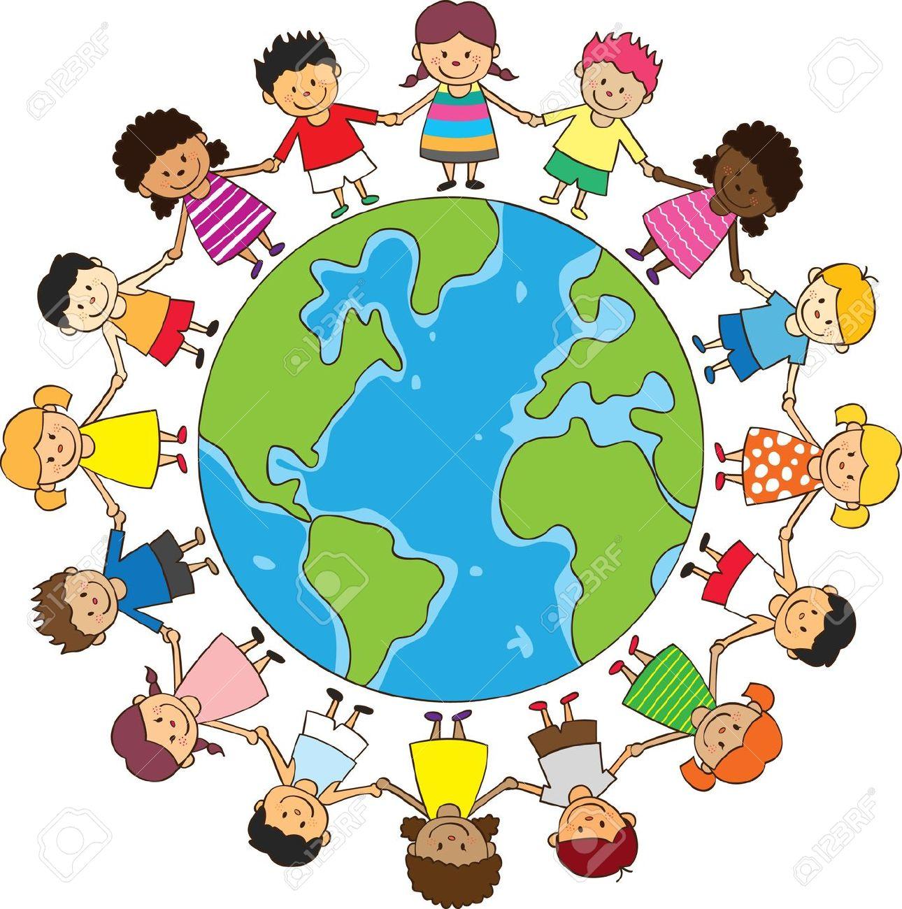 1290x1300 International Children On Globe Clipart