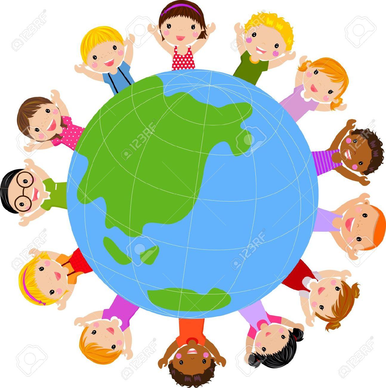 1294x1300 Kids Around The World Cliparts