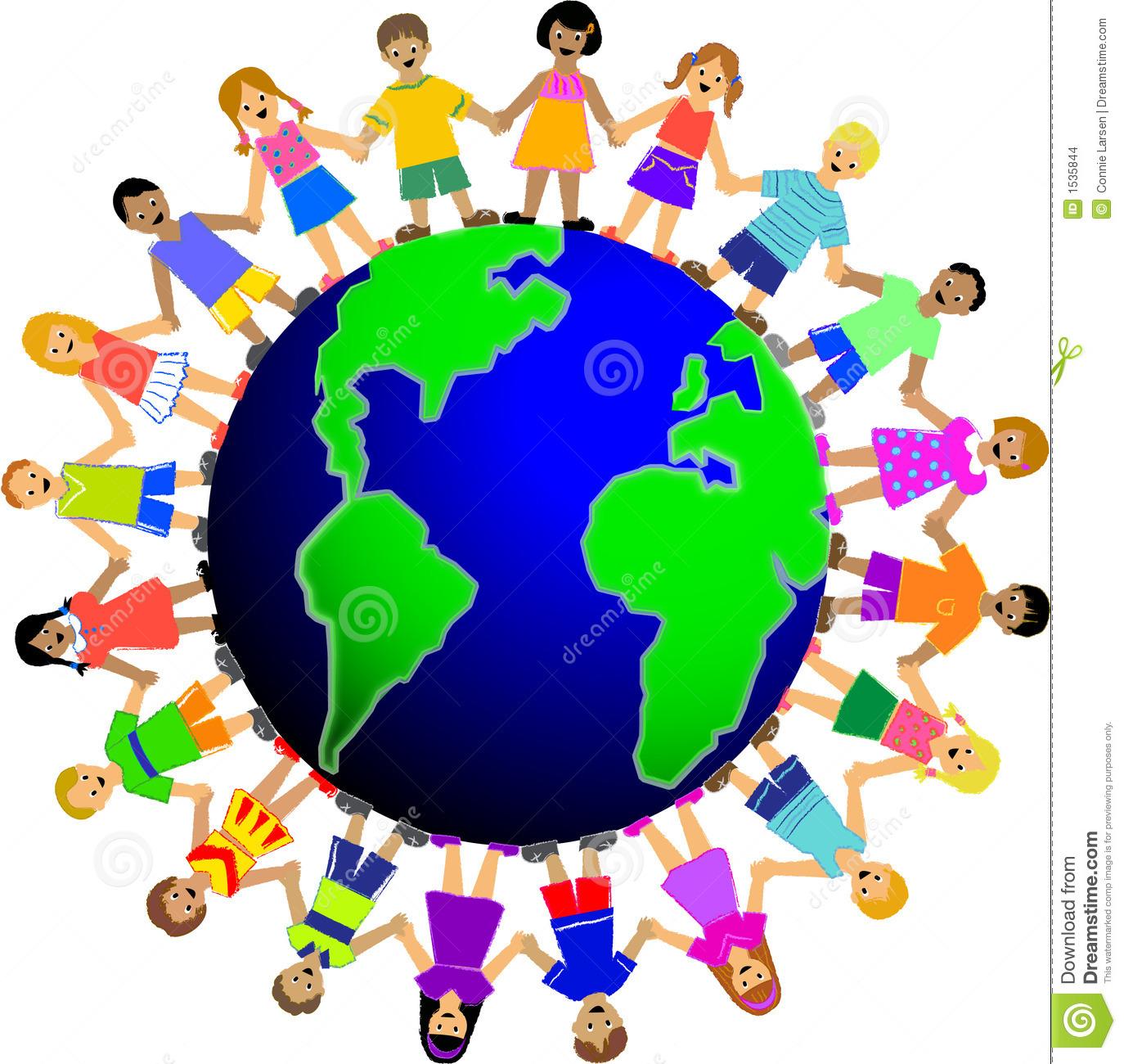1374x1300 Clip Art Of Children Around The World Holding A Shoe Box