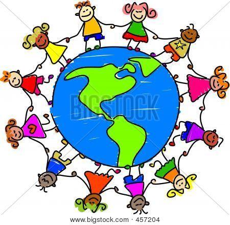 450x440 Clipart Free World Children