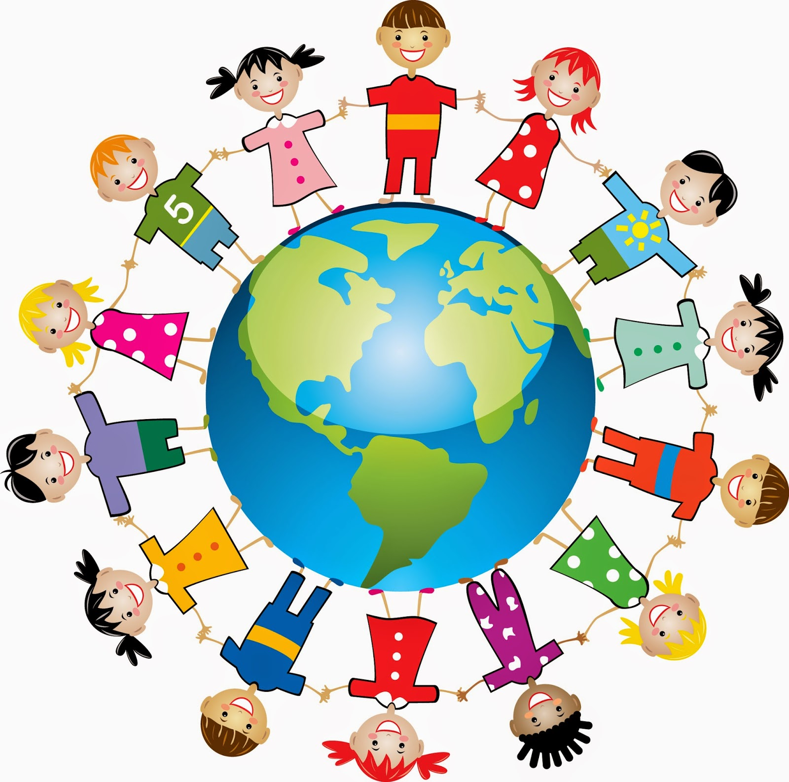 1600x1586 Free Clipart Children Around The World