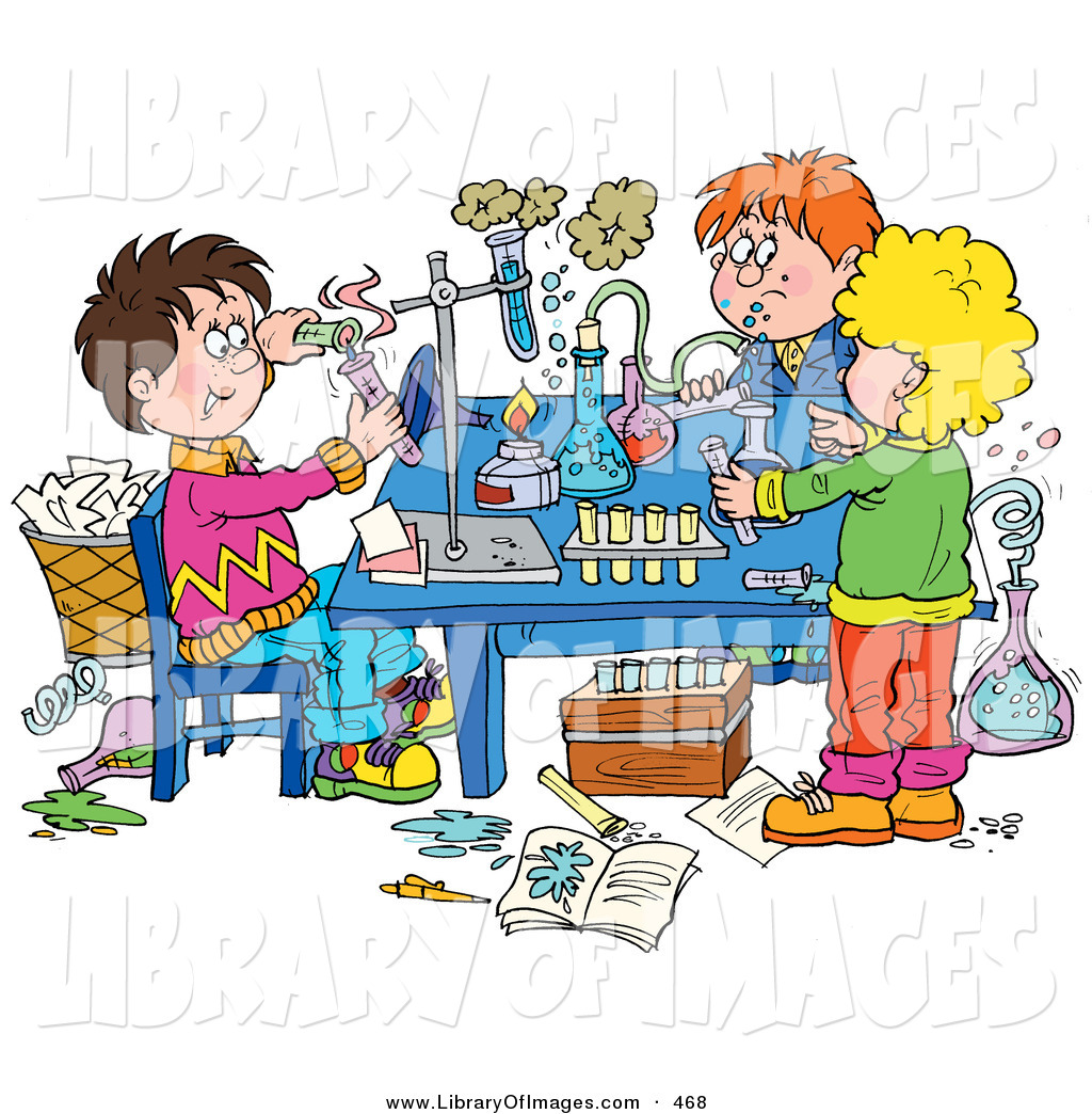 1024x1044 Clip Art Of A Group Of School Children Conducting Science