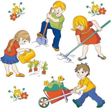 373x368 Vector Children Free Vector Download (994 Free Vector)
