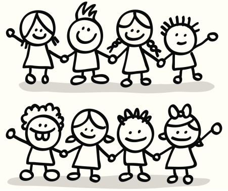451x379 Friends Clipart Black And White