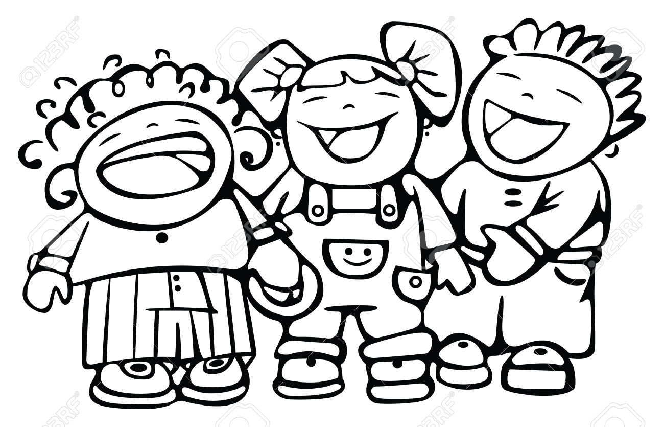 1300x835 Happy Children Clip Art Black And White 101 Clip Art