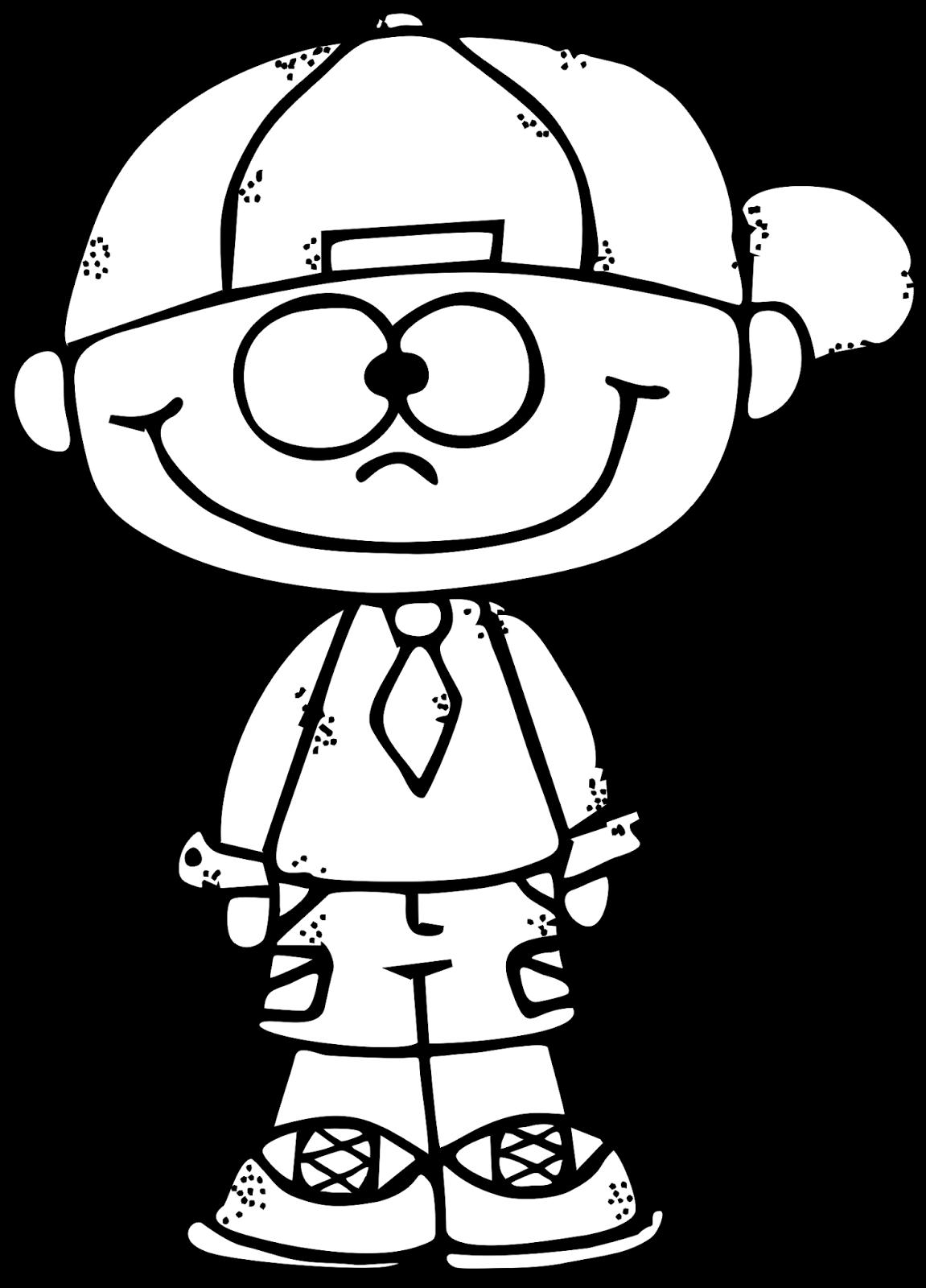 1151x1600 White Clipart Boyblack
