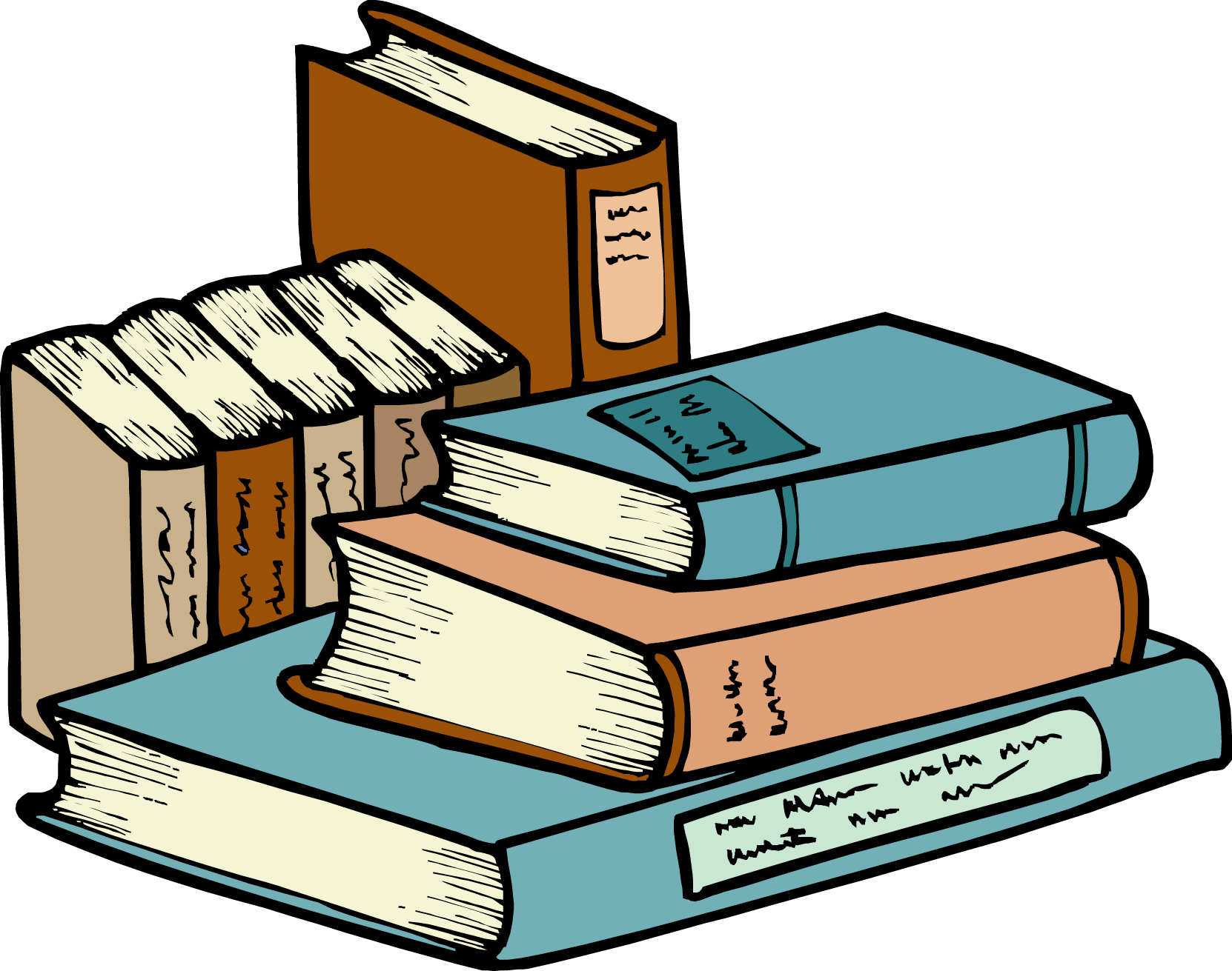 1662x1311 Free Stack Of Books Clipart Image
