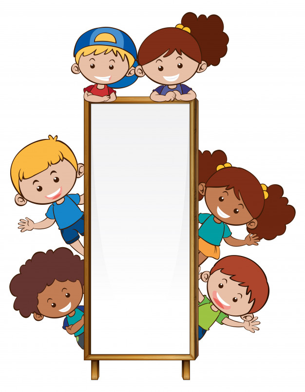 626x804 Border Template With Many Children Vector Free Download
