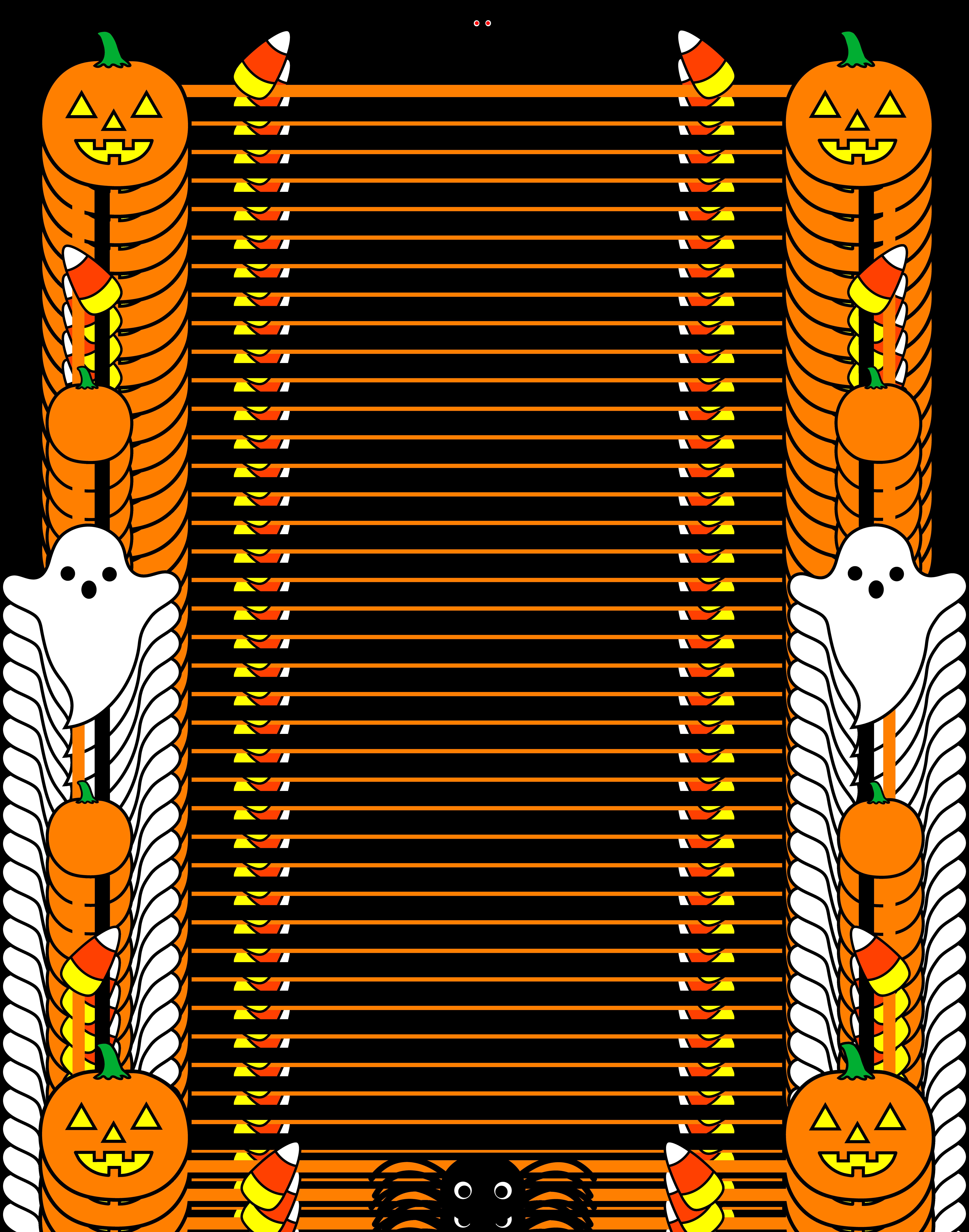 6655x8464 Cute Halloween Border Frame