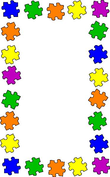 372x596 Puzzle Border Clip Art