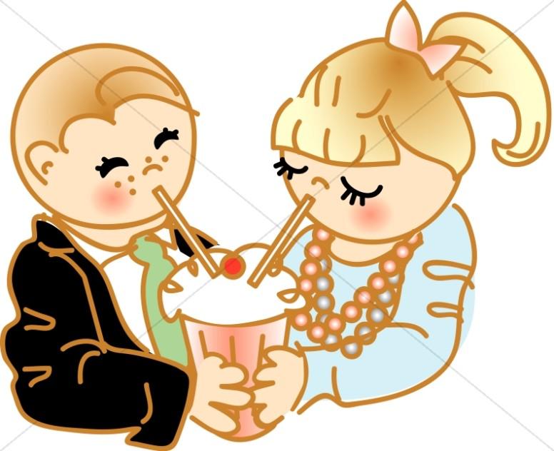 776x632 Soda Sharing Cartoon Christian Children Clipart