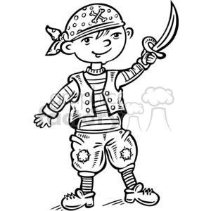 300x300 Royalty Free Child Dressed Up Like A Pirate 381521 Vector Clip Art
