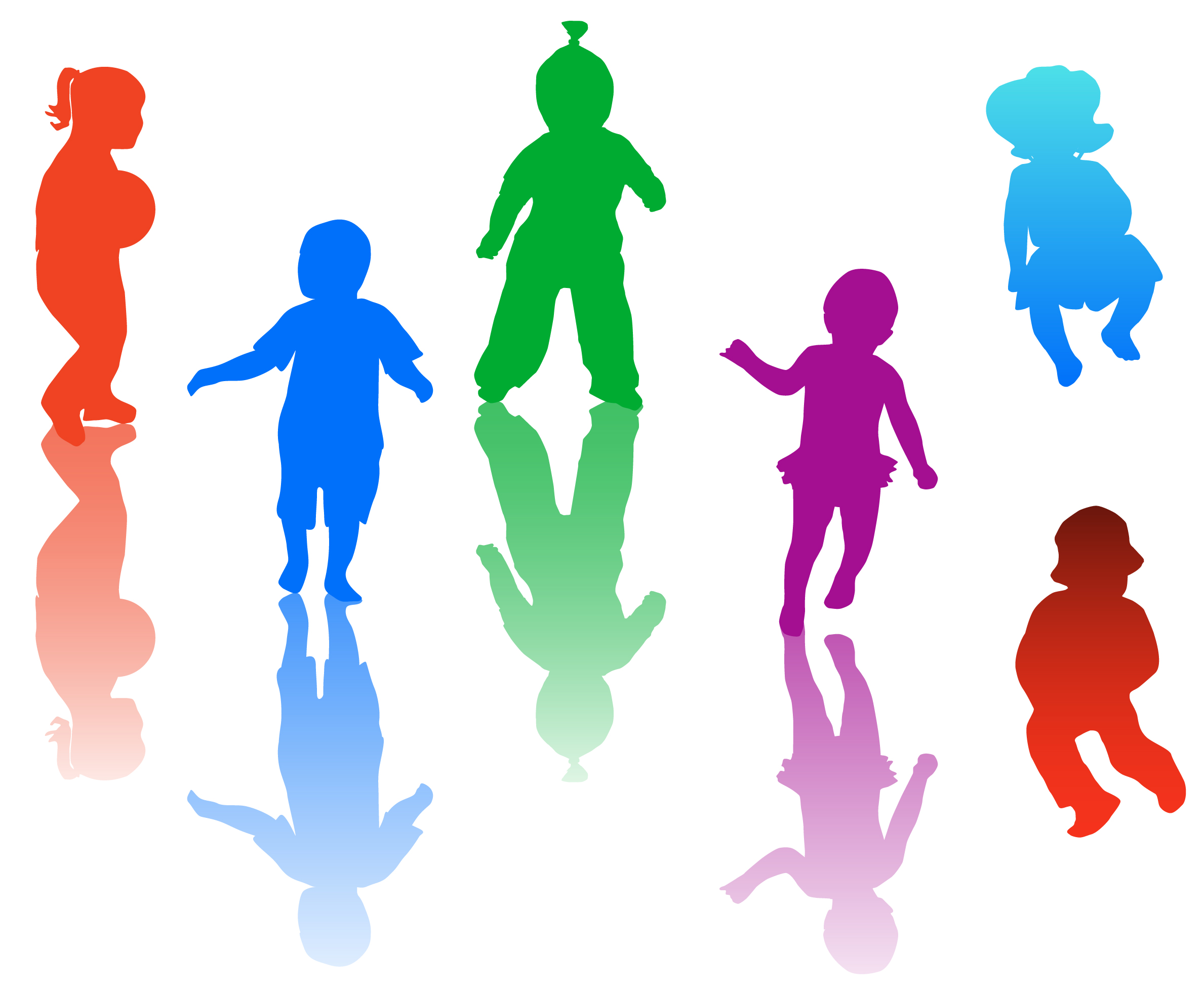 2378x1962 Children playing clip art clipart
