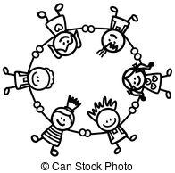 196x194 Children Holding Hands Clip Art In Black And White 101 Clip Art