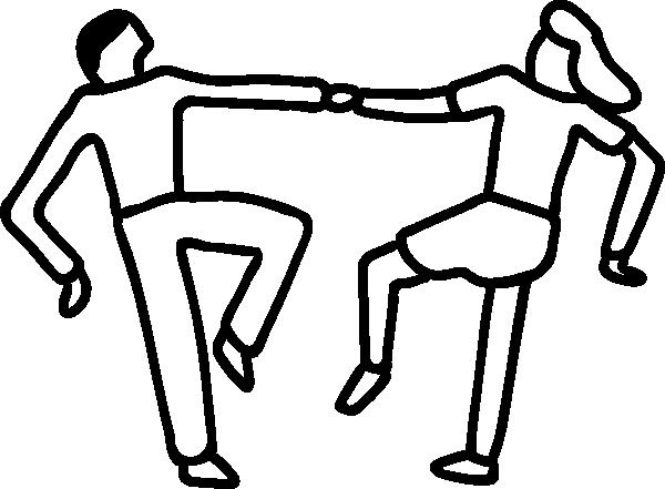 600x441 Free Black And White Dance Clip Art