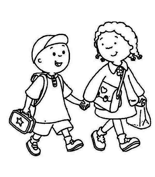 600x685 Image Of School Children Clipart Black And White