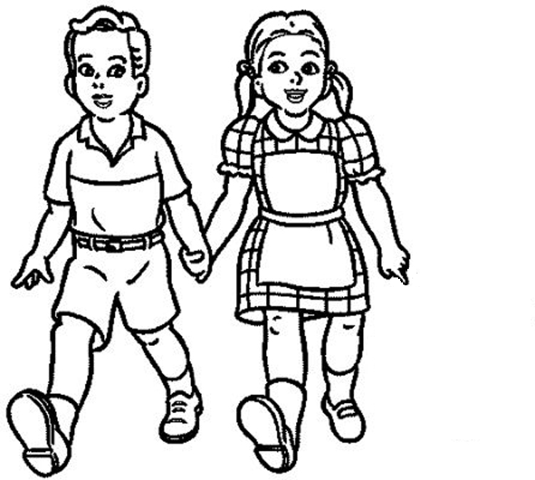 750x673 Kids Clipart Black And White Cliparts