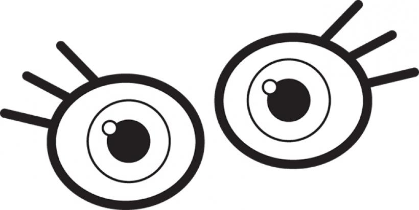 820x412 Round Eyes Clipart Round Eyes Clipart Eye Clip Art For Kids
