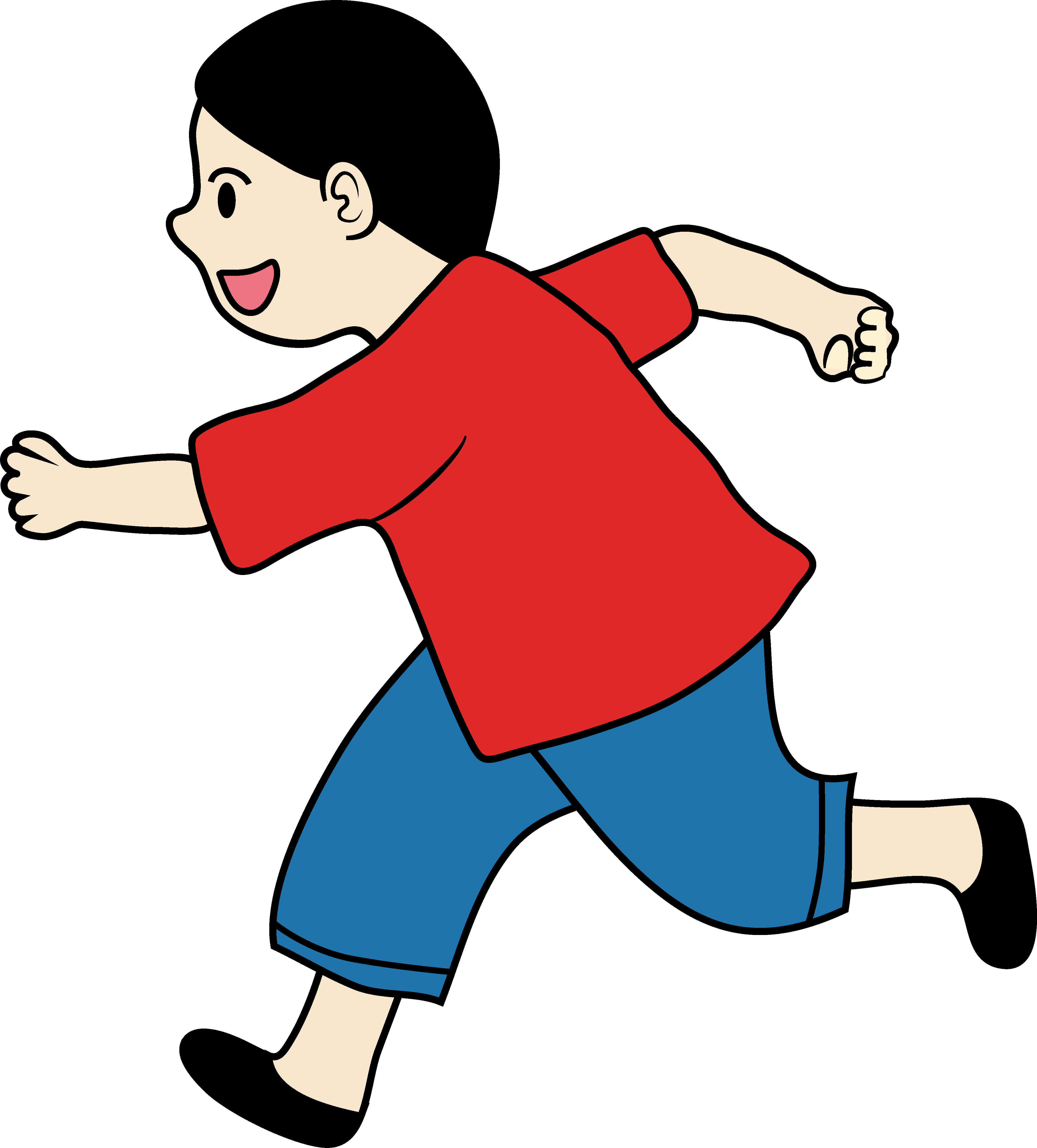 4209x4662 Kids Running Clipart