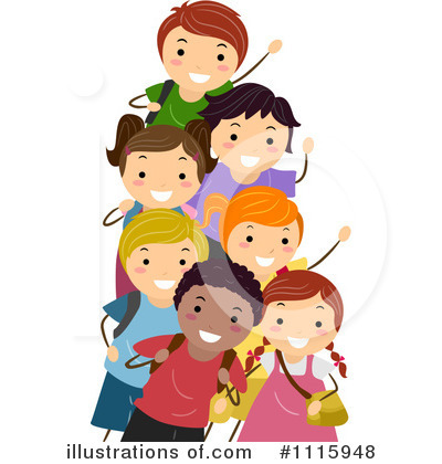 400x420 School Children Clipart