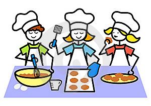 300x211 Kids Cooking Clip Art