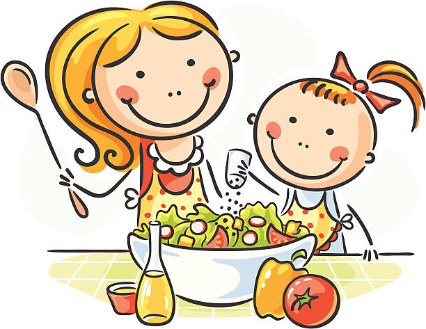 612x473 The Kitchen Clipart Kids Cook