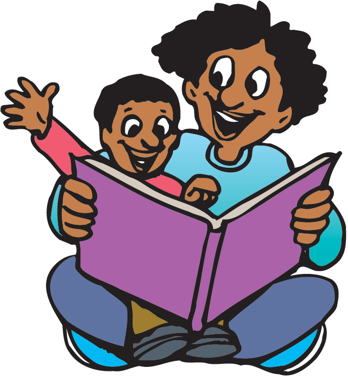 688x746 Clipart Kids Reading Together