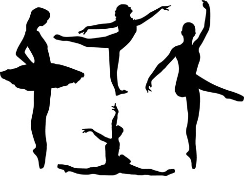 500x361 Dancing Children Silhouette Graphic Free Vector Download (6,597