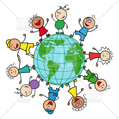 400x400 Happy Children Of Different Nationalities Together Around