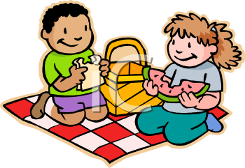 350x241 Children Eating Food Clipart