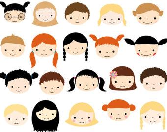 340x270 Cute Children Clipart Multicultural Clip Art Multiracial