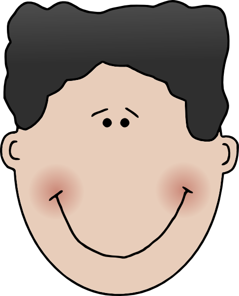 486x600 Face Clipart Happy Child