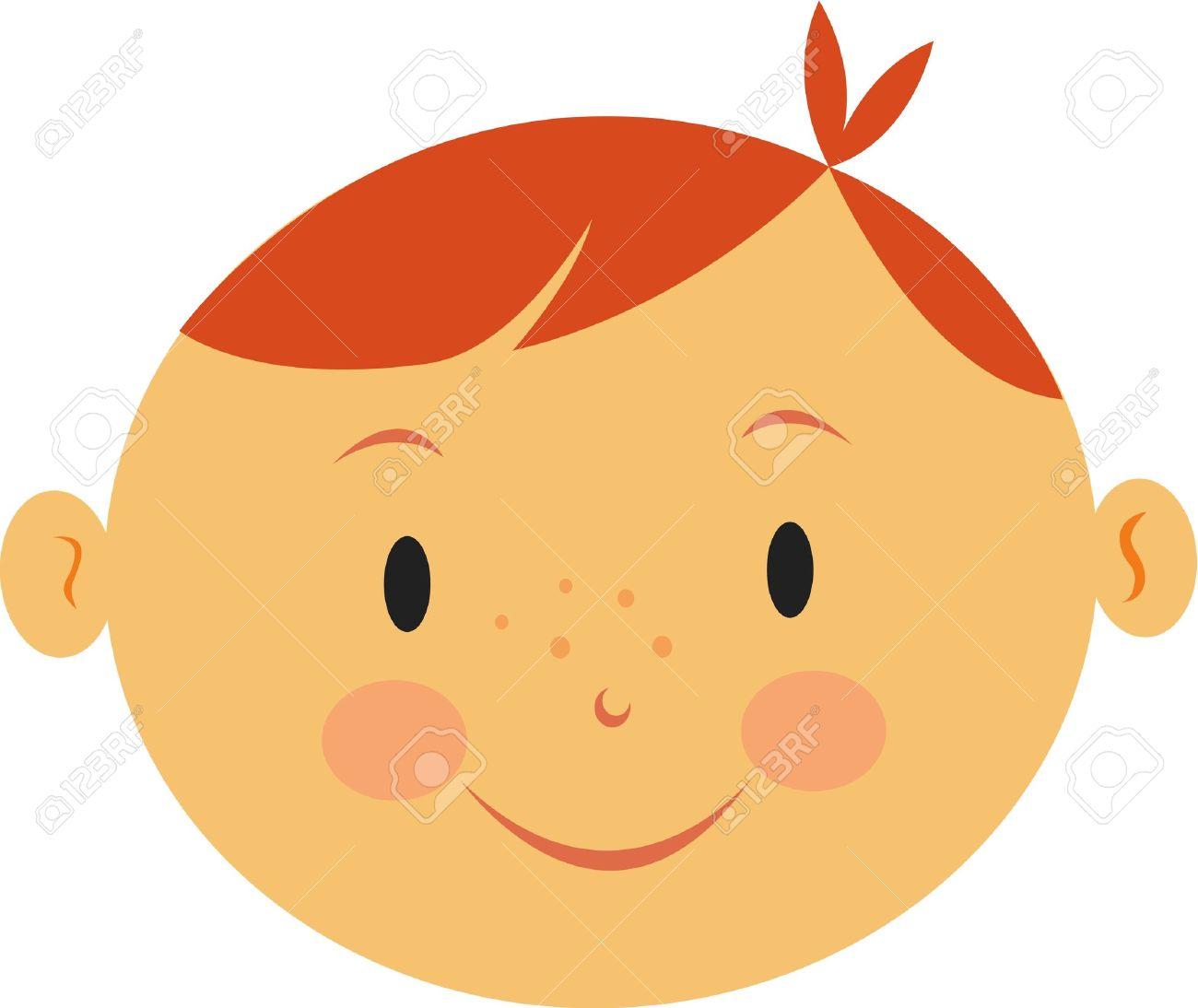 1300x1094 Redhead Clipart Child Head