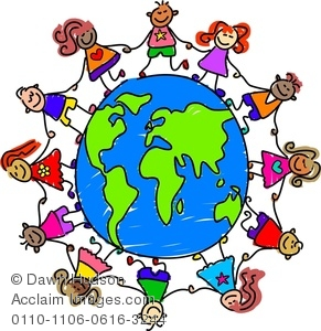 291x300 Kids Holding Hands Around The World, Children Around The Gloabe