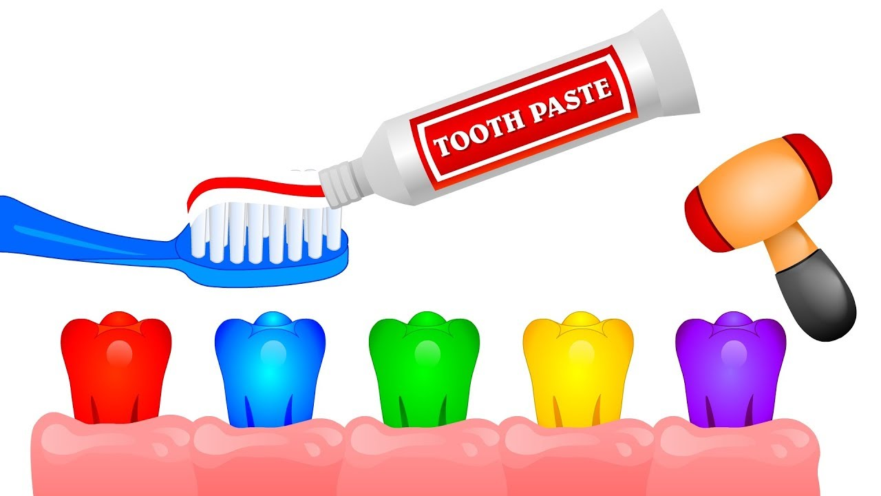 1280x720 Colors For Children To Learn With Toothbrush Learn Colors