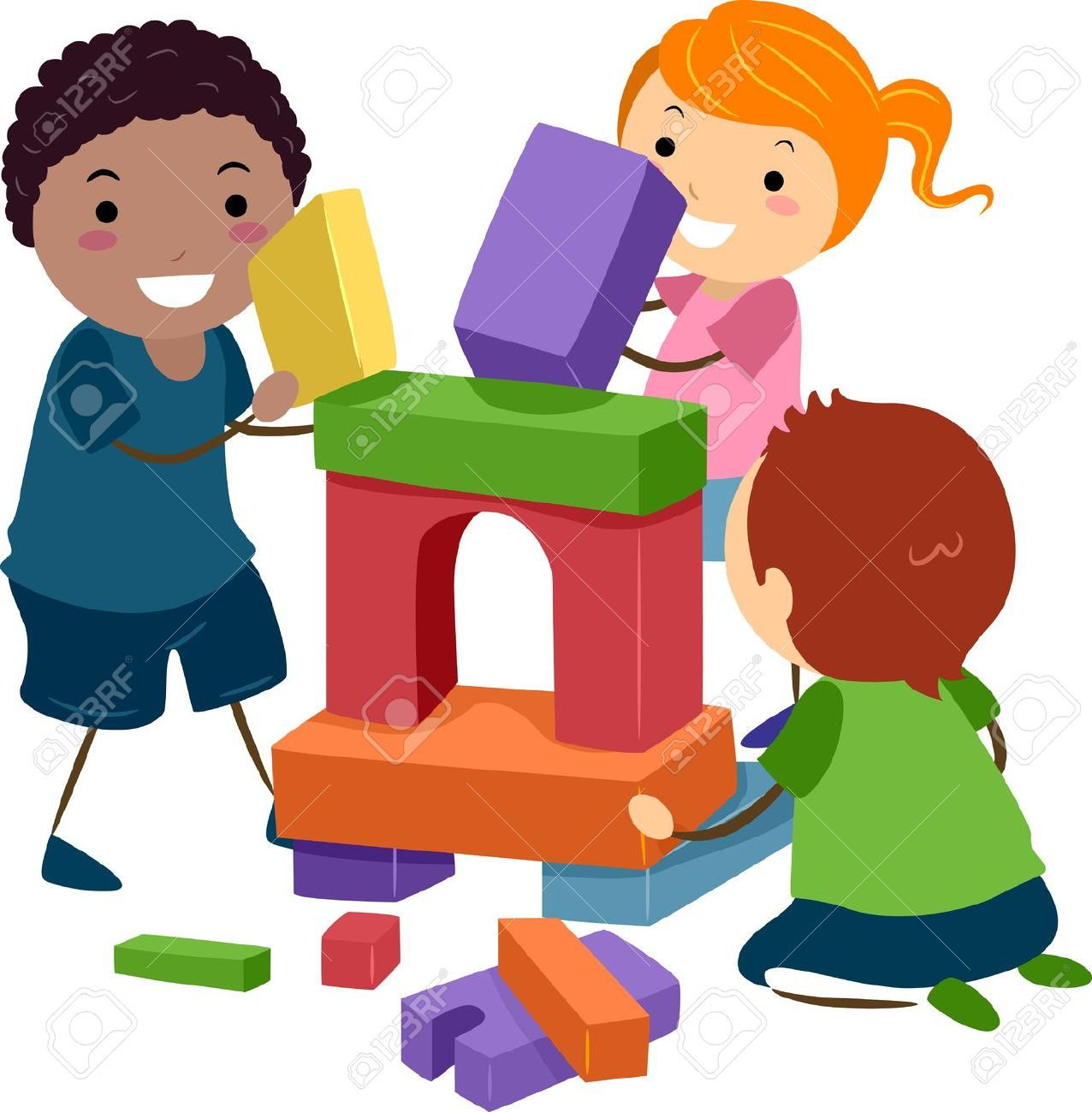 Children Playing With Toys Clipart   Free download on ...
