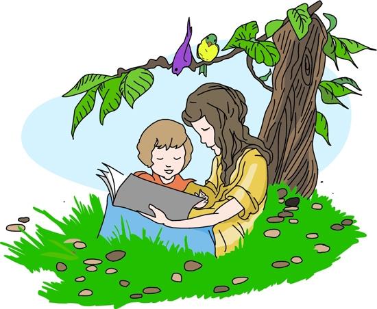 550x452 Children Reading Books Clipart 101 Clip Art