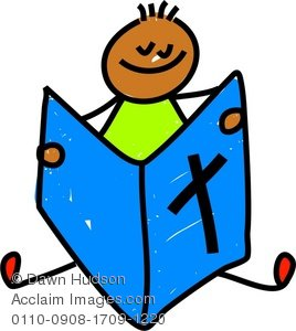 268x300 Clipart Illustration Of A Little Boy Reading The Bible
