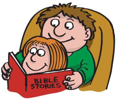 400x341 Image Dad Reading Bible Stories To His Daughter