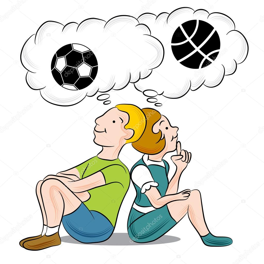 1024x1024 Children Thinking About Sports Stock Vector Cteconsulting